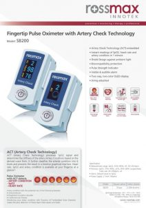 Pulse Oximeter SB200 Artery Check Technology