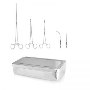 Surgical Set - Vascular Clamp (5pc) with tray