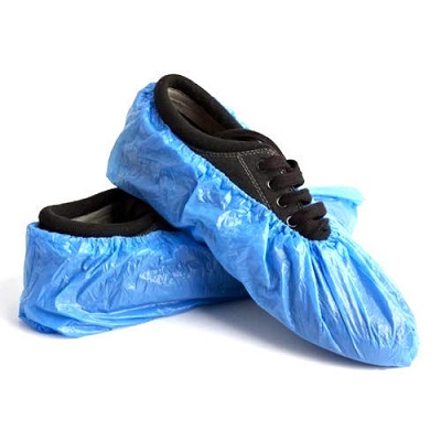 Shoe Cover Plastic Blue (100's) 20 microns